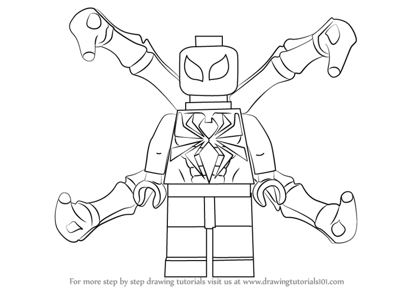 Learn How to Draw Lego Iron Spider (Lego) Step by Step