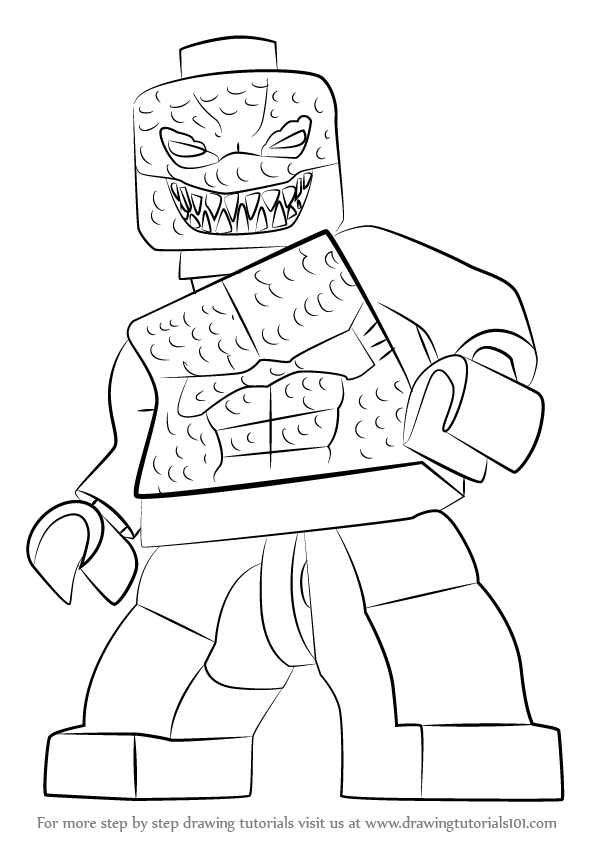 Learn How to Draw Lego Killer Croc (Lego) Step by Step
