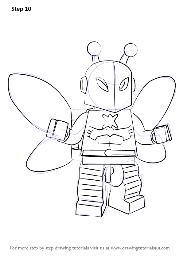 Learn How to Draw Lego Killer Moth (Lego) Step by Step