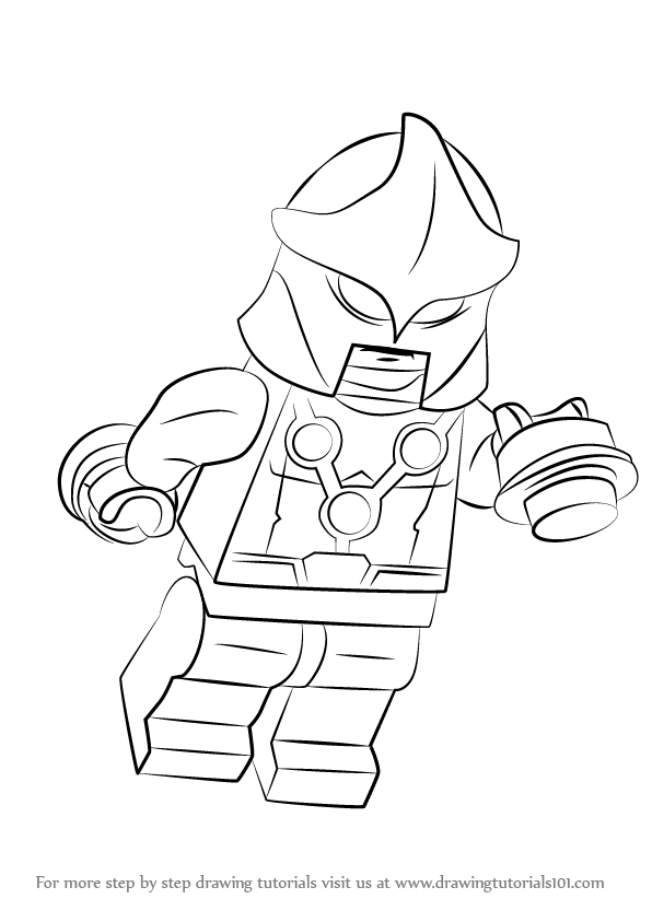 Learn How to Draw Lego Nova (Lego) Step by Step : Drawing