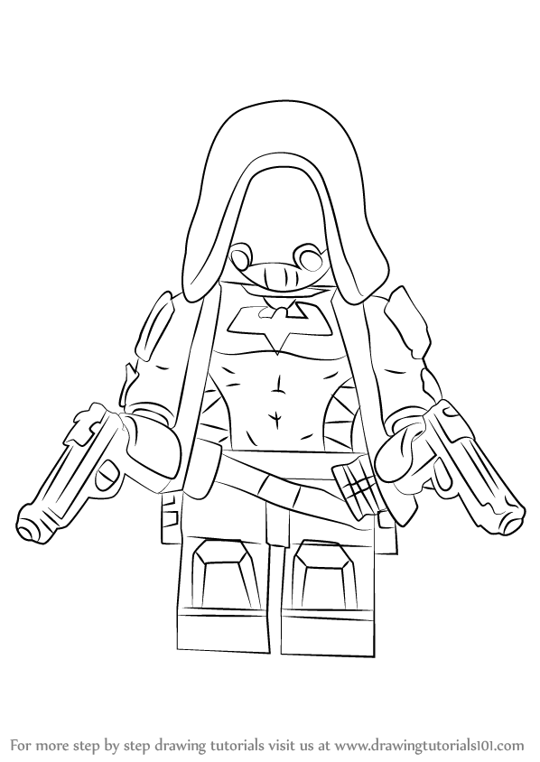 Learn How to Draw Lego Red Hood (Lego) Step by Step