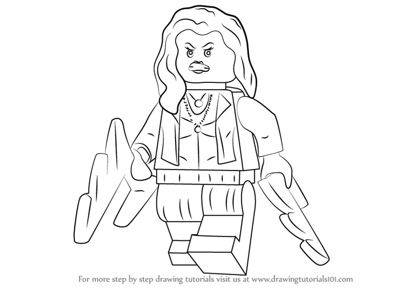 Learn How to Draw Lego Scarlet Witch (Lego) Step by Step