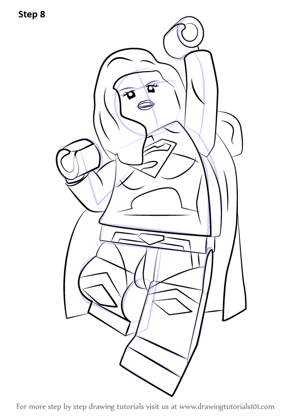 33 Lego Supergirl Coloring Pages - Free Printable Coloring Pages