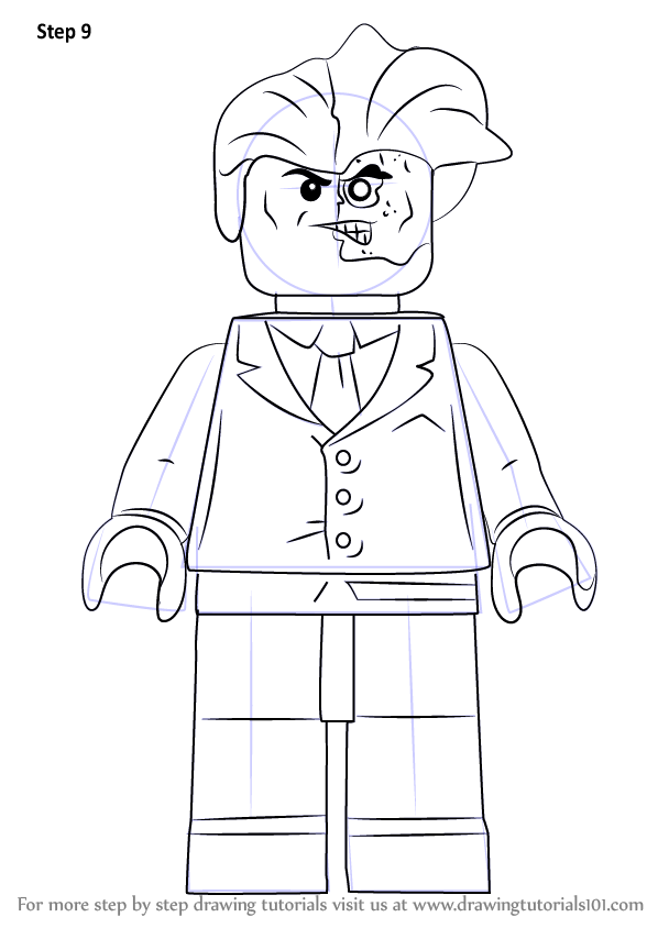 Learn How to Draw Lego Two-Face (Lego) Step by Step