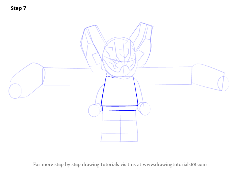 Learn How To Draw Lego Yellow Jacket Lego Step By Step