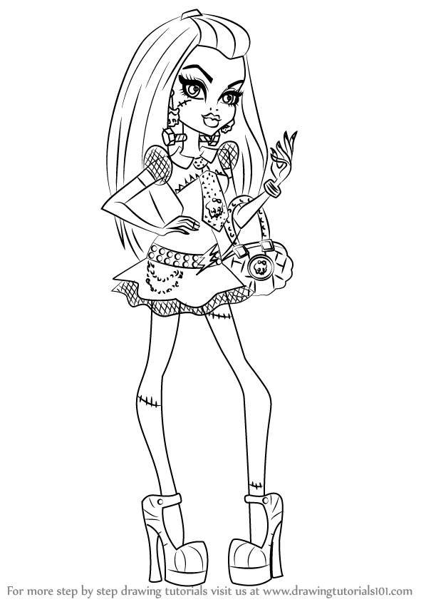 Learn How to Draw Frankie Stein from Monster High (Monster