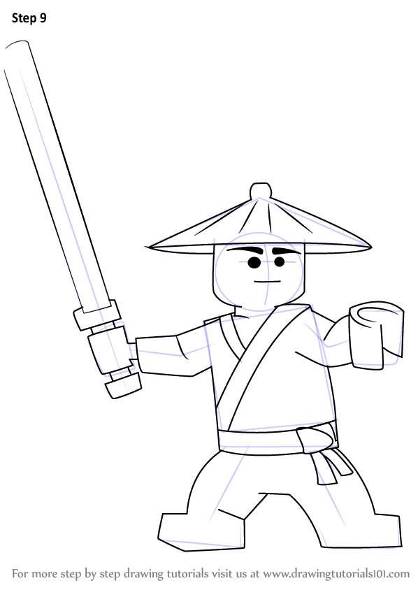 Learn How to Draw First Spinjitzu Master from Ninjago