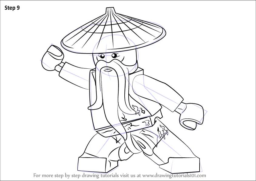 Learn How to Draw Master Wu from Ninjago (Ninjago) Step by