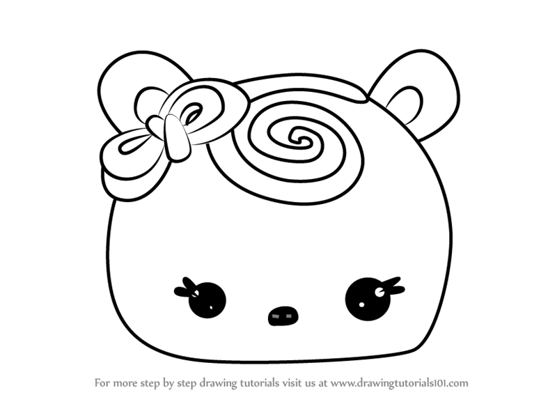 Learn How to Draw Choco Swirl from Num Noms (Num Noms