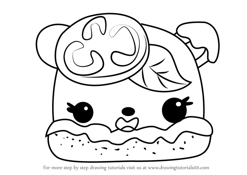 Learn How to Draw Margo Rita from Num Noms (Num Noms) Step
