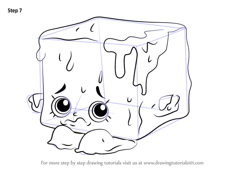 Learn How to Draw Cool Cube from Shopkins (Shopkins) Step