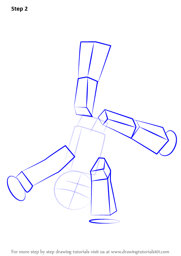 Step By Step How To Draw Stikbot