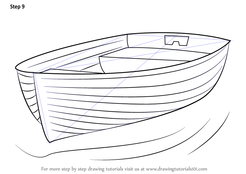 Learn How to Draw Boat at Dock (Boats and Ships) Step by