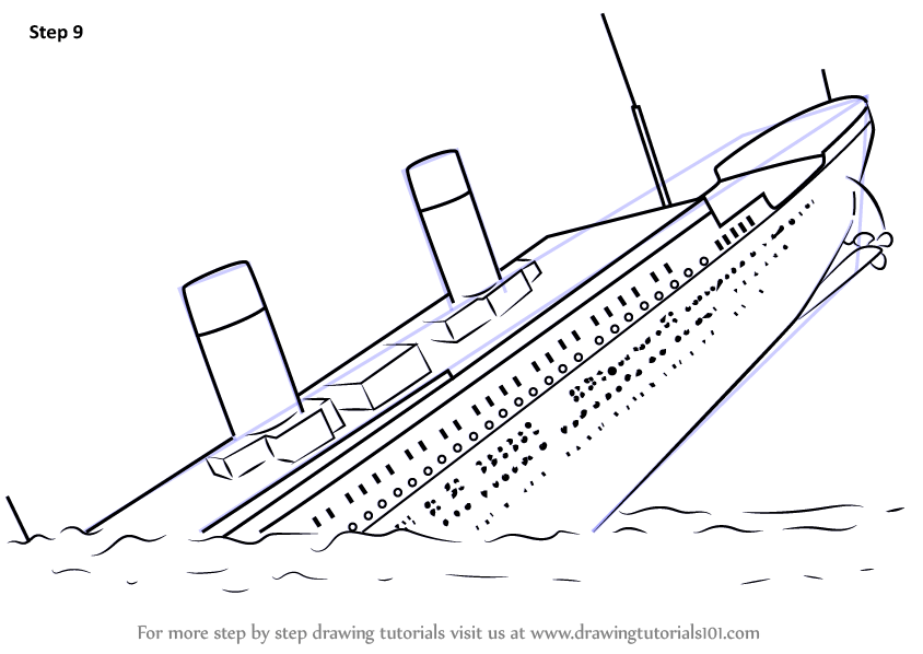 Sinking Ship Coloring Coloring Pages
