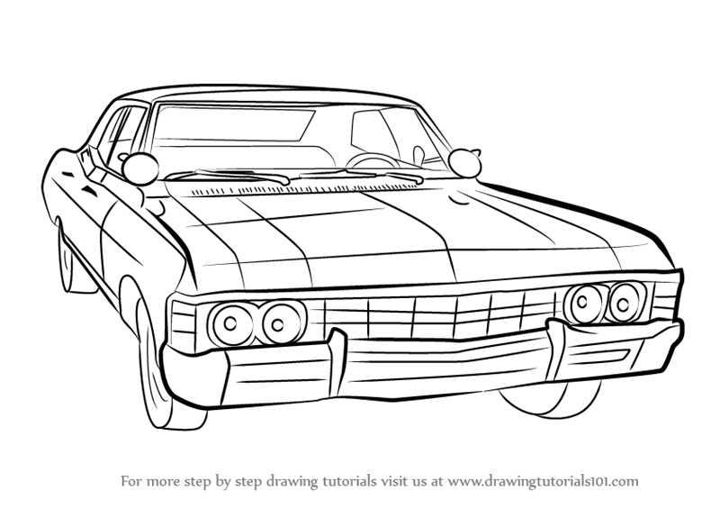 Learn How to Draw a 1967 Chevy Impala (Cars) Step by Step