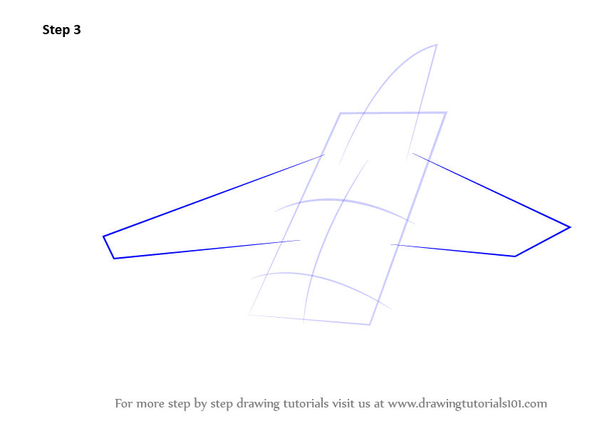 Learn How To Draw Fighter Jet Aircraft Fighter Jets Step
