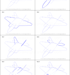 step by step drawing tutorial on how to draw lockheed martin f 22 raptor [ 751 x 1641 Pixel ]