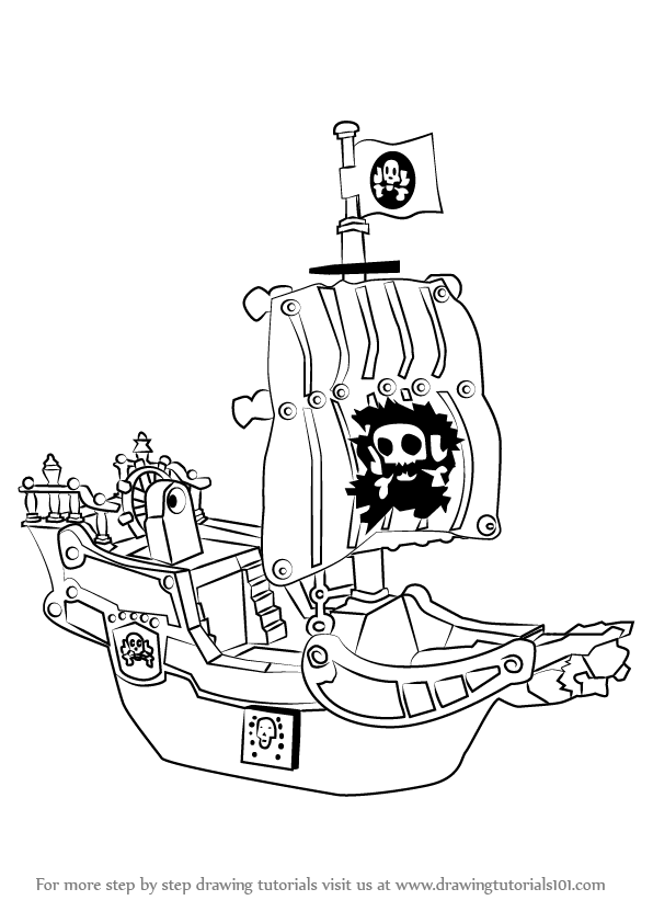 Learn How to Draw a Pirate Ship (Other) Step by Step