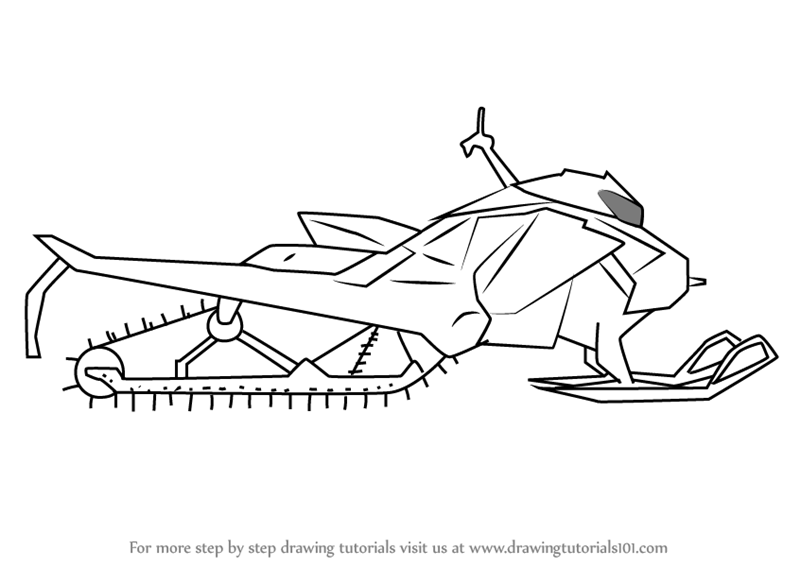 Learn How to Draw a Simple Snowmobile (Other) Step by Step