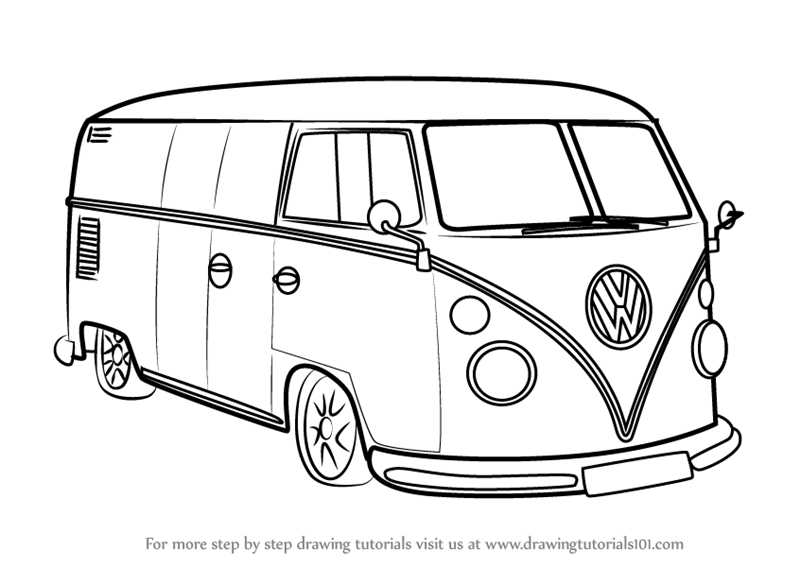 Learn How to Draw Volkswagen Van (Other) Step by Step