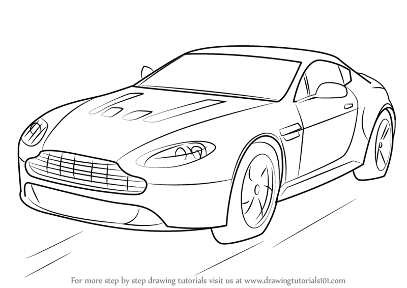Learn How to Draw Aston Martin V12 Vantage (Sports Cars