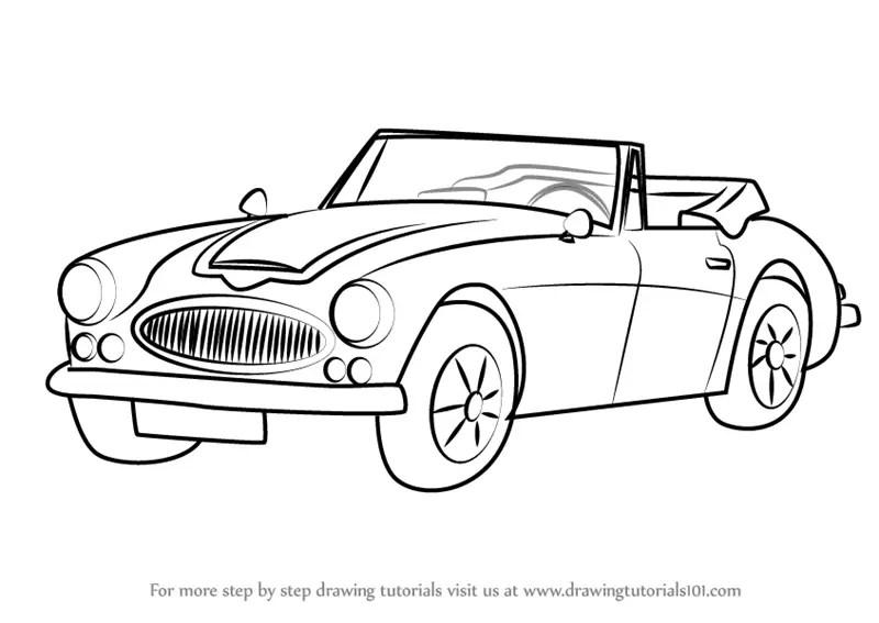 Learn How to Draw Austin-Healey 3000 MK III (Sports Cars
