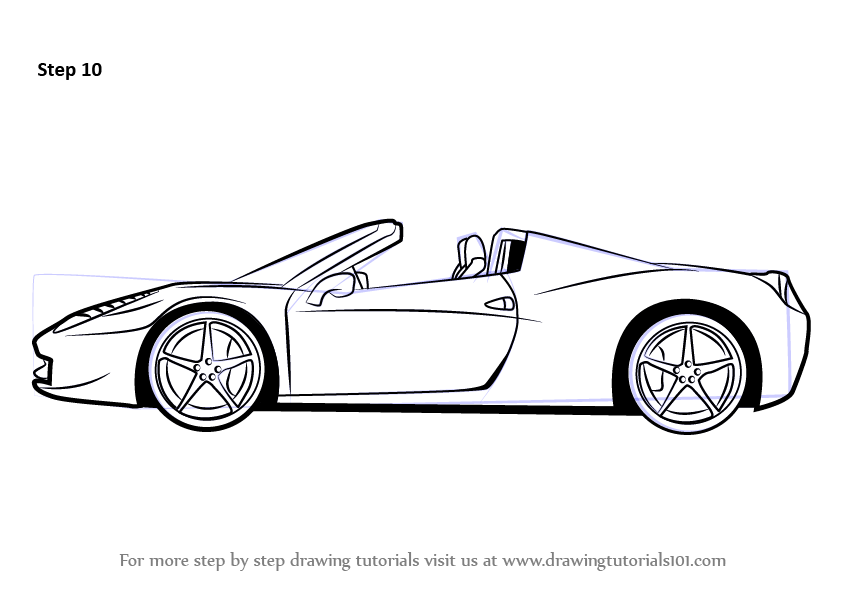 Learn How to Draw a Ferrari (Sports Cars) Step by Step