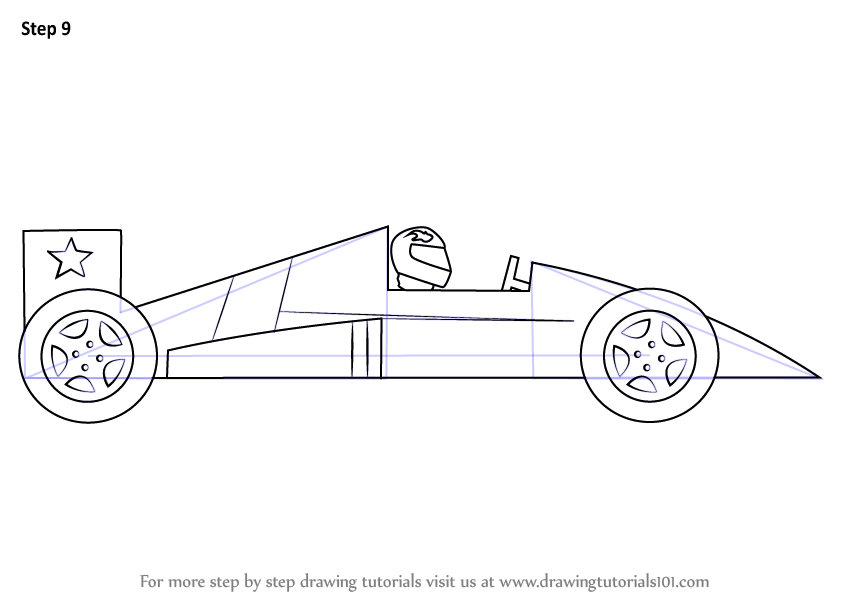 Learn How to Draw a Racing Car for Kids (Sports Cars) Step
