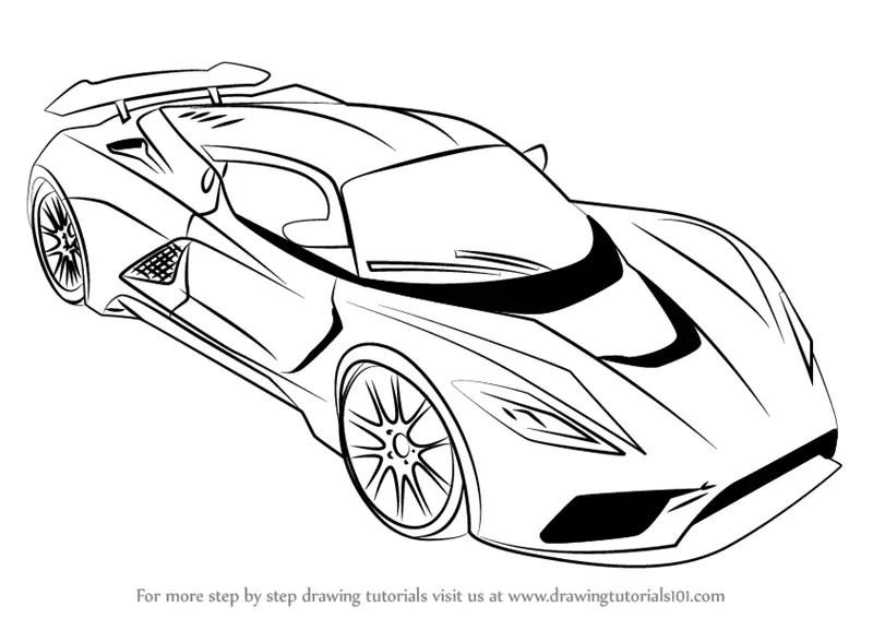 Learn How to Draw Venom F5 (Sports Cars) Step by Step