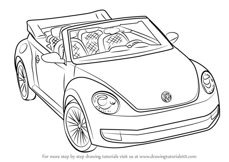 Learn How to Draw Volkswagen Beetle Convertible (Sports