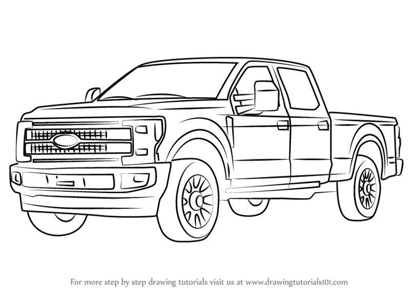 4X4 Truckss: How To Draw 4x4 Trucks Step By Step