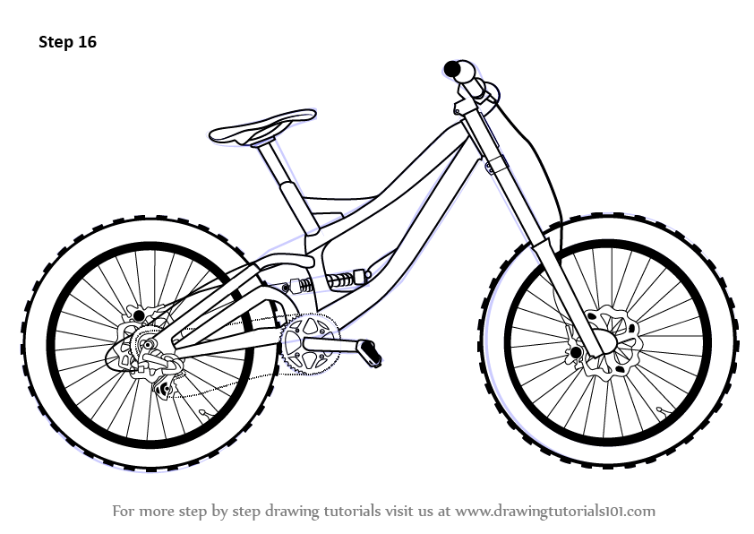 Learn How to Draw a Bicycle (Two Wheelers) Step by Step