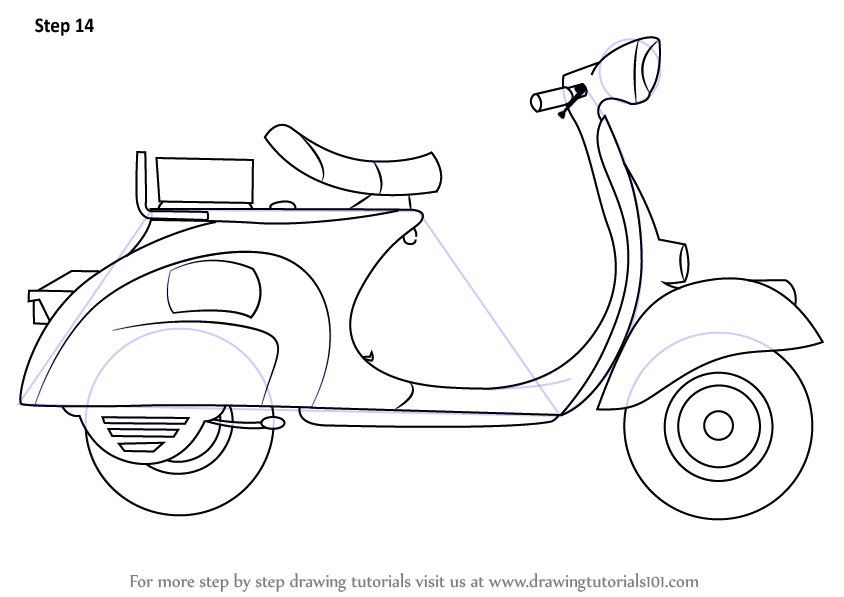 Razor Scooter Coloring Pages Sketch Coloring Page
