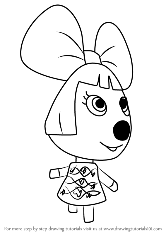 Learn How to Draw Penelope from Animal Crossing (Animal