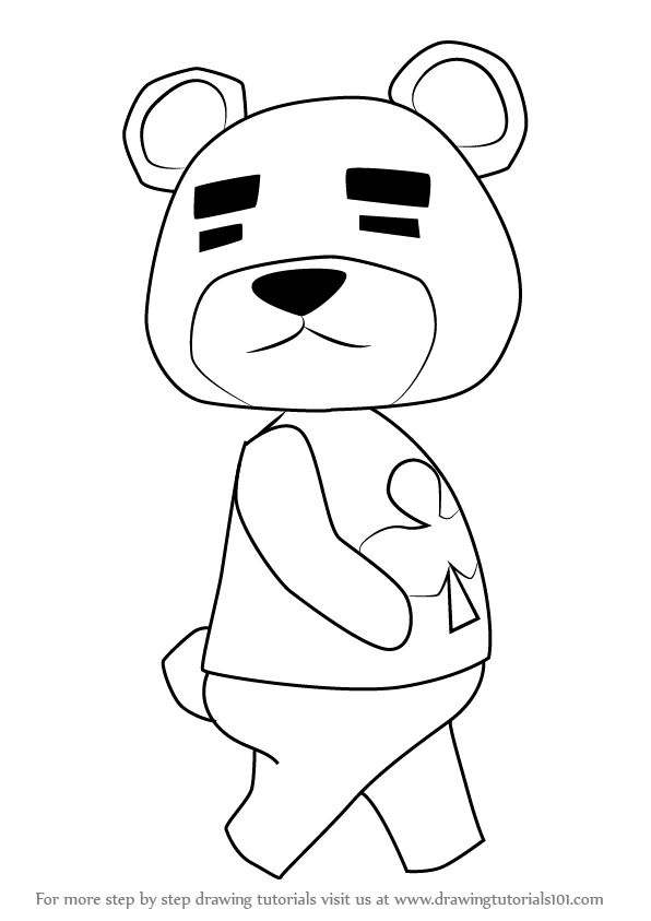 Learn How to Draw Teddy from Animal Crossing (Animal