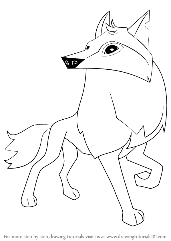 Learn How to Draw Arctic Wolf from Animal Jam (Animal Jam