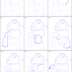 How To Draw Clydesdale Horse From Animal Jam Printable Step By Step Drawing Sheet Drawingtutorials101 Com