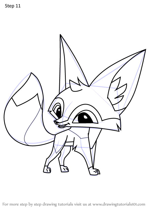 Learn How to Draw Fennec Fox from Animal Jam (Animal Jam