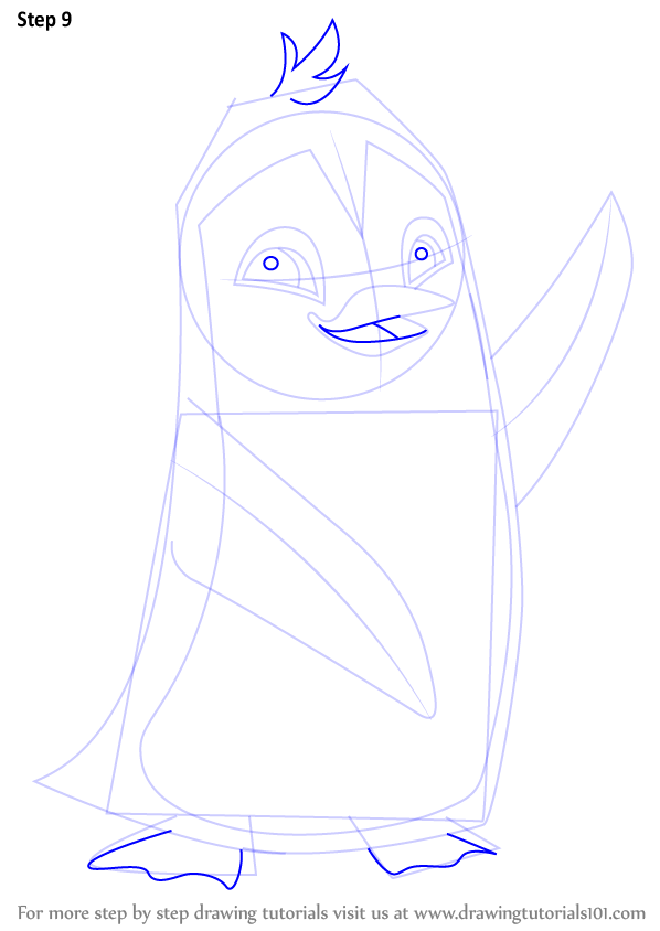 Step By Step How To Draw Penguin From Animal Jam