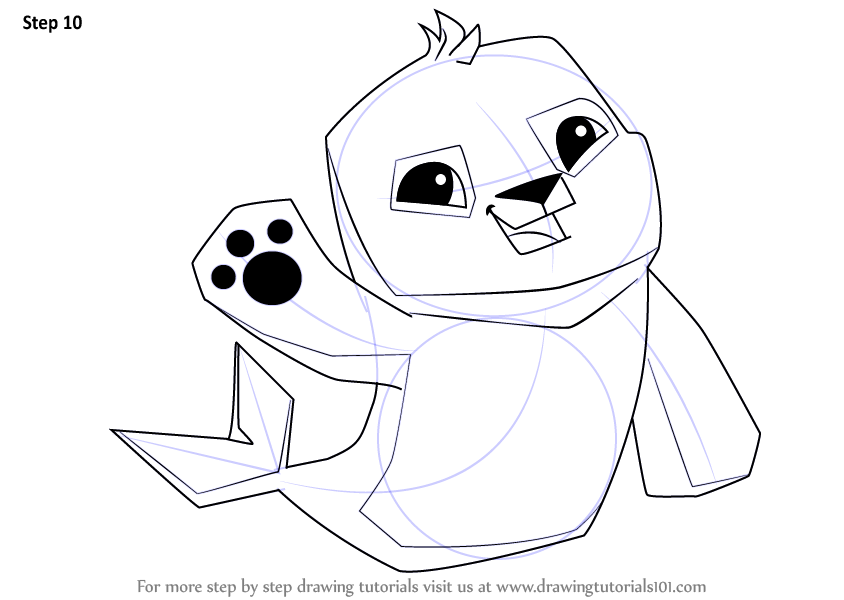 Learn How to Draw Seal from Animal Jam (Animal Jam) Step