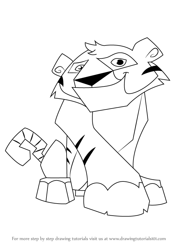 Learn How To Draw Tiger From Animal Jam Animal Jam Step