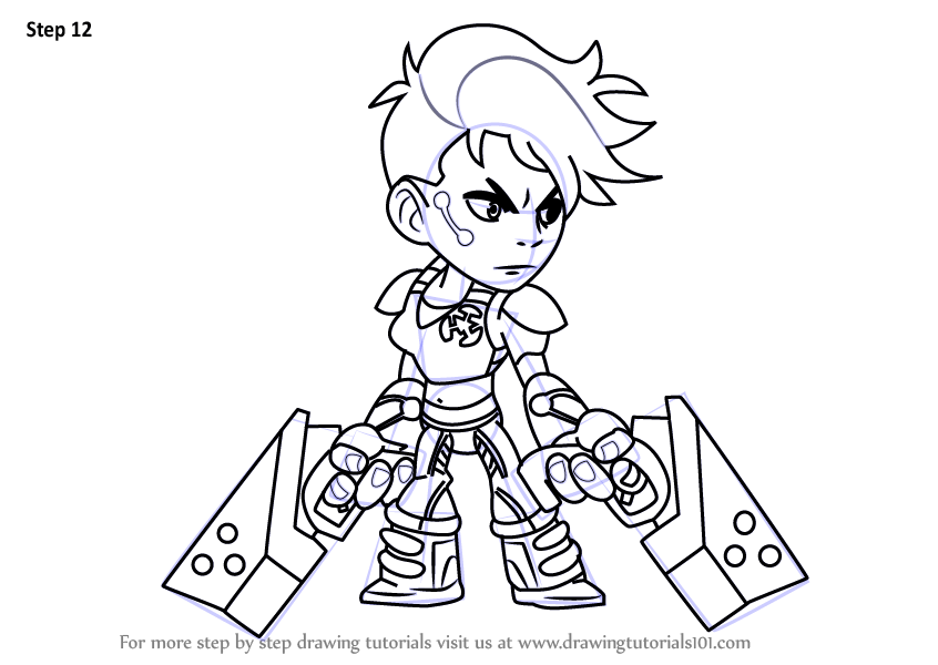 Learn How To Draw Orion From Brawlhalla Brawlhalla Step