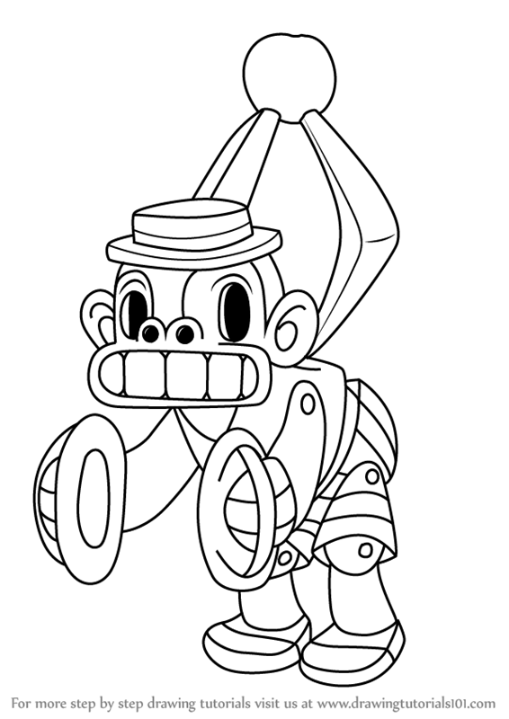 learn how to draw mr. chimes from cuphead (cuphead) step