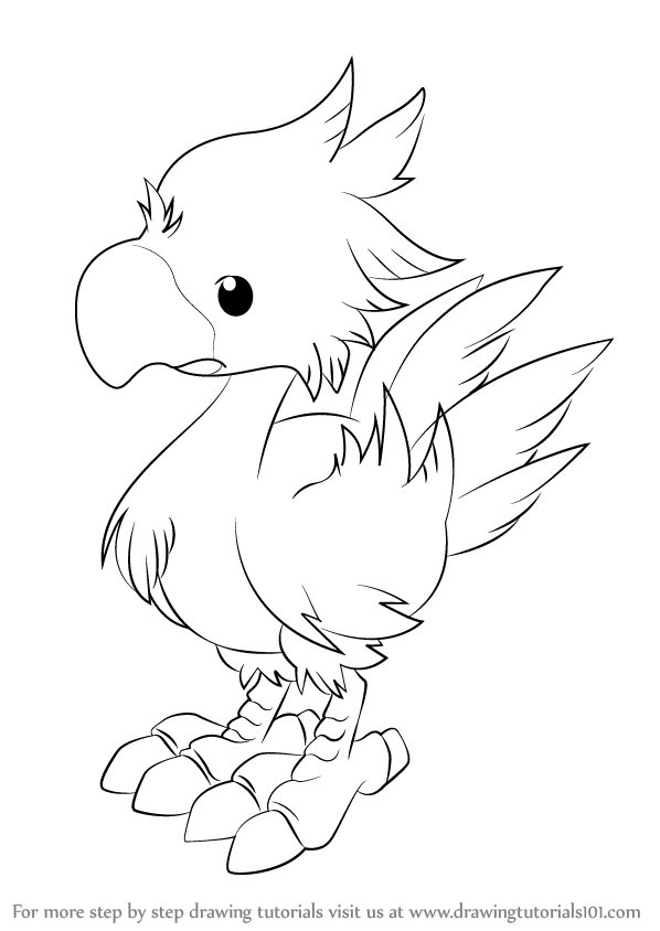 Learn How to Draw Chocobo from Final Fantasy (Final