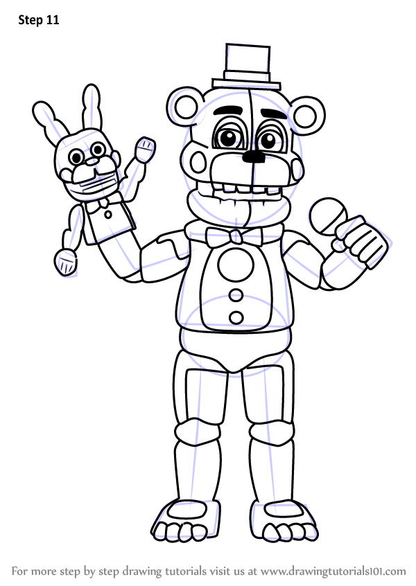 Learn How to Draw Funtime Freddy from Five Nights at