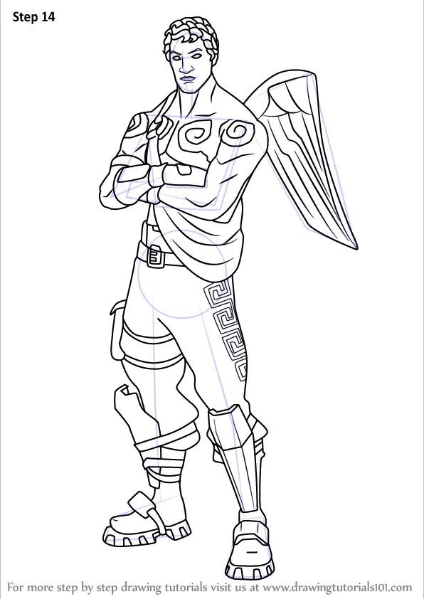 Learn How to Draw Love Ranger from Fortnite (Fortnite