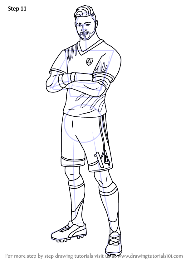 Learn How to Draw Midfield Maestro from Fortnite (Fortnite