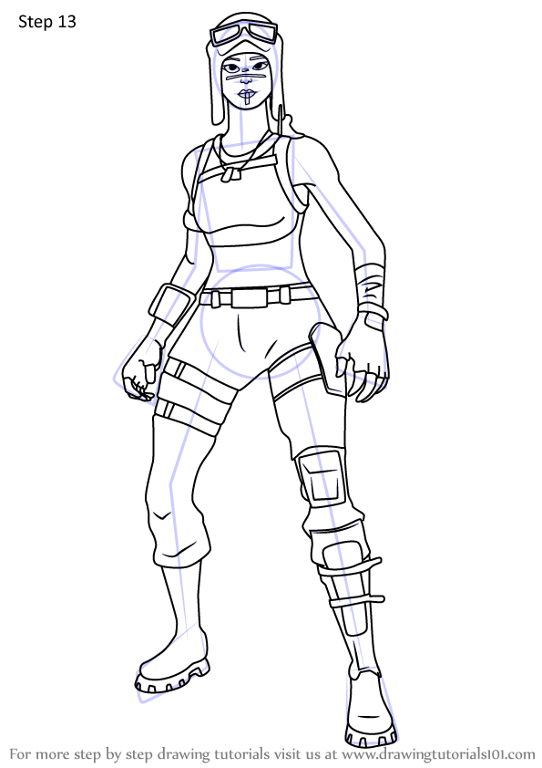 Renegade Raider Fortnite Coloring Pages