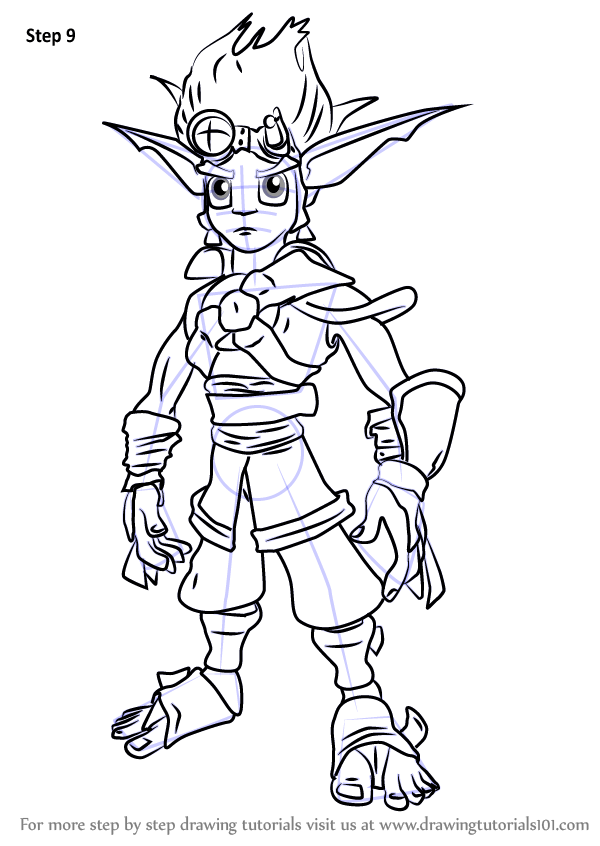 Learn How to Draw Jak from Jak and Daxter (Jak and Daxter