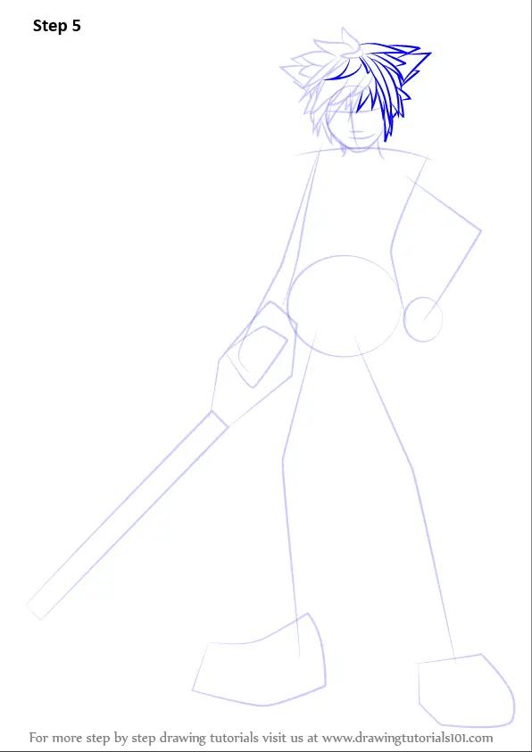 Learn How To Draw Sora From Kingdom Hearts Kingdom Hearts